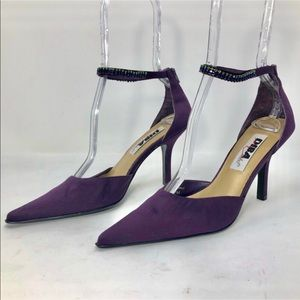 Diba Blingy Sexy Ankle Enclosure Fabric Pump